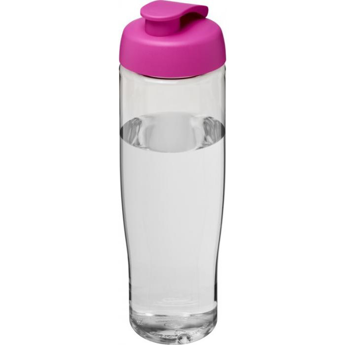 700ml Tempo Sports Bottle - Transparent bottle & pink lid