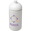 500ml Active Grip Water Bottle White - printed with your logo