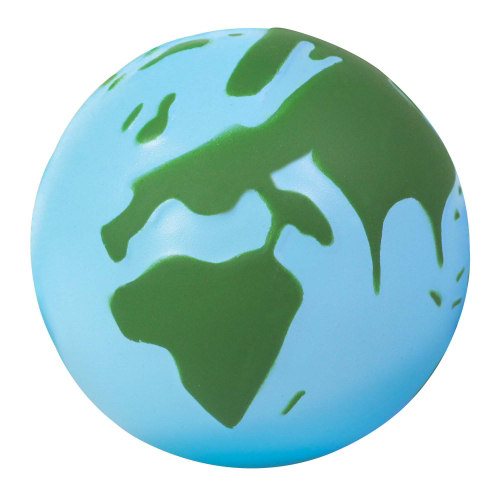 Globe Stress Toy - Light Blue & Green