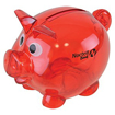 Mini Translucent Piggy Bank - Red