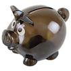Mini Translucent Piggy Bank - Black