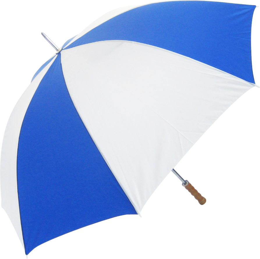 Promo Budget Golf Umbrella - Royal Blue & White