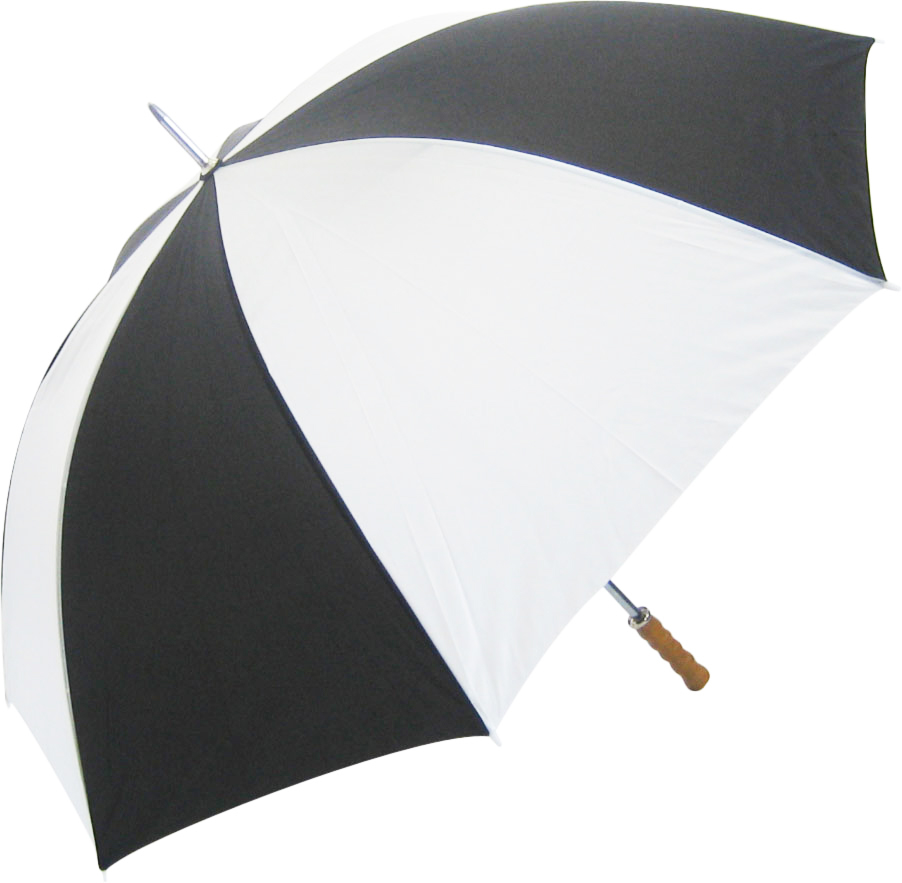 Promo Budget Golf Umbrella - Black & White