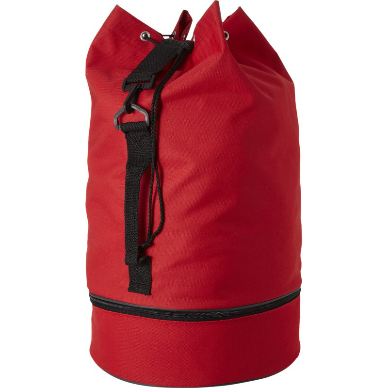 Duffel Bag with Shoe Pocket - Red