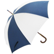 Woodstick Umbrella - Navy & White
