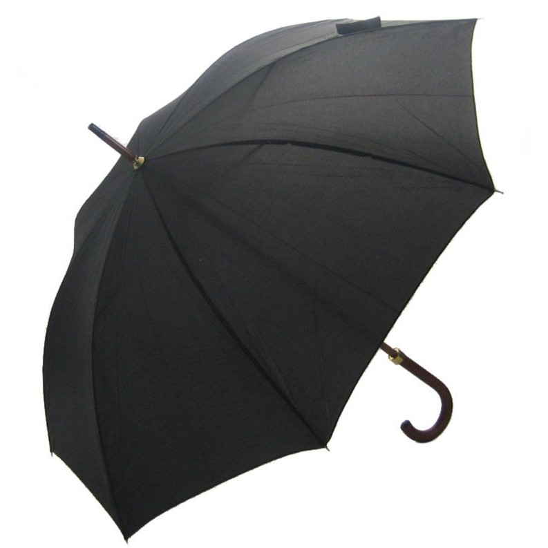 Woodstick Umbrella - Black