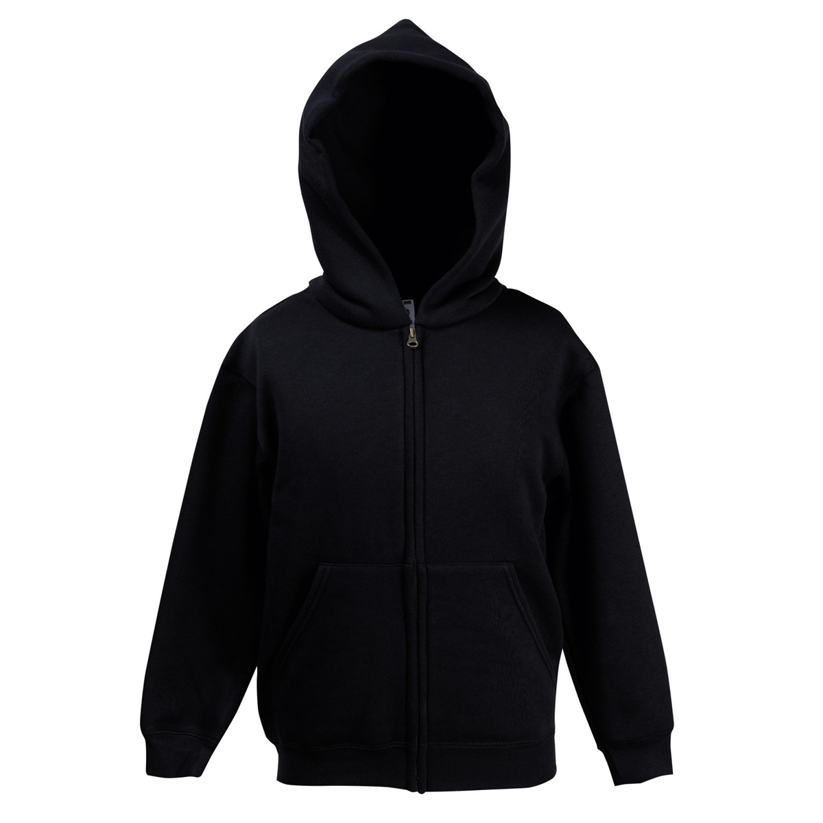 Fruit of the Loom Childrens Hoodie - Black
