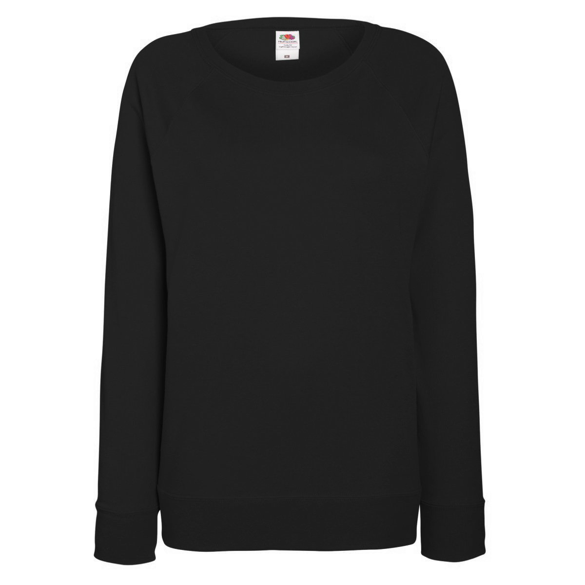 Fruit of the Loom Ladies Sweatshirt - Black