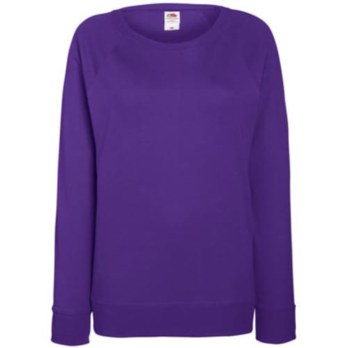 Fruit of the Loom Ladies Sweatshirt - Purple