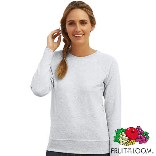 Fruit of the Loom Ladies Sweatshirt - Heather Grey