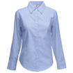 Fruit of the Loom Lady Fit Long Sleeve Oxford Shirt - Oxford Blue