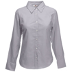 Fruit of the Loom Lady Fit Long Sleeve Oxford Shirt - Oxford Grey