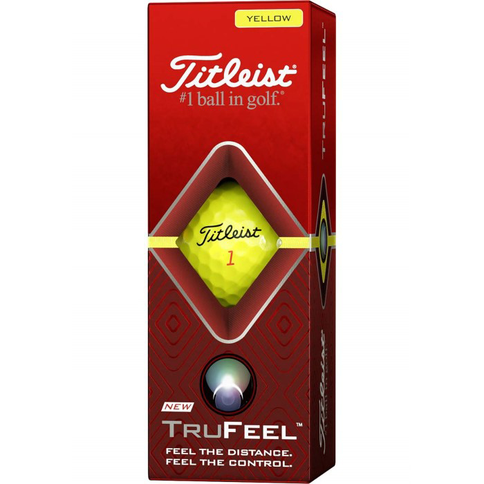 Titleist TruFeel Golf Balls - Yellow box of 3