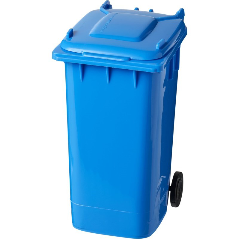 Wheelie Bin Pen Holder - Blue